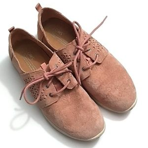 Toms Rose Pink Suede Laceup Sneakers - 9